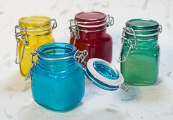 Mason Jar Style Candle in Assorted Colors