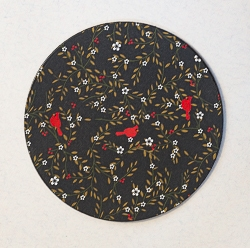 Round Designer Paper Coaster with Cork Backing - 01