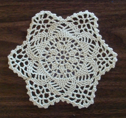 Round Six Point Scalloped Doilies - 6 Inch