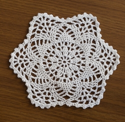 Round Six Point Scalloped Doilies - 8 Inch