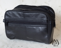 Leather Travel Toiletries Bag