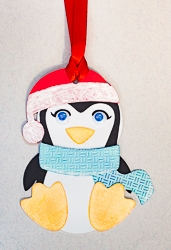Handmade Penguin Design Gift Tag Ornament - 01