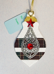 Ornament Shaped Handmade Gift Tag Ornament - 04
