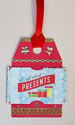 Handmade Tag Shaped Gift Card Holder Tag Ornament - 02
