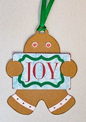 Handmade Gingerbread Man Design Gift Card Holder Tag Ornament - 03