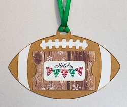 Handmade Football Motif Gift Card Holder Tag Ornament