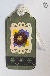 Handmade Pressed Flower Bookmark  with Red Geum