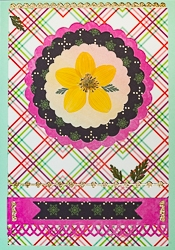 Real Pressed Flower All-Occasion Card with Yellow Biden - 14