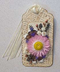 Everlasting Flower Holiday Tag Ornament - 03