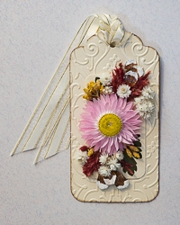 Everlasting Flower Holiday Tag Ornament - 04