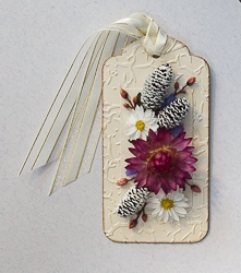 Everlasting Flower Holiday Tag Ornament - 05