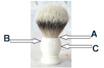How Em's Place Measures Shaving Brush Handles